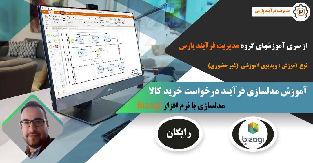 آموزش مدلسازی فرآیند درخواست خرید کالا در نرم افزار Bizagi