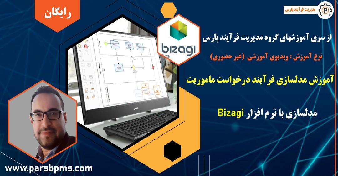 آموزش مدلسازی فرآیند درخواست ماموریت در نرم افزار Bizagi